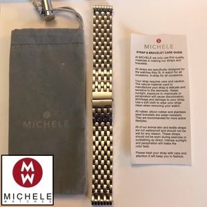 Michele Deco 18mm Stainless Steel Bracelet